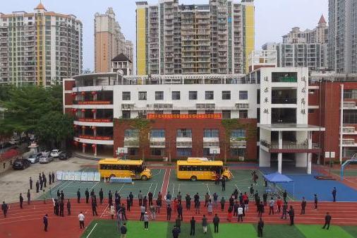 惠州教育系统防疫校车安全应急演练在北师大惠州附属学校举行